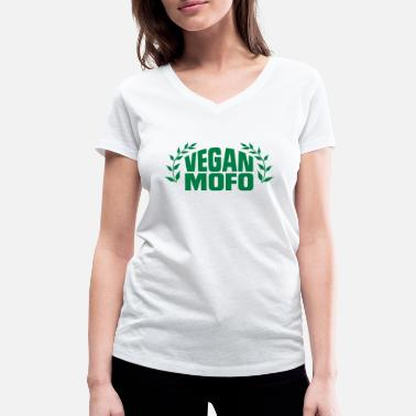 Motherfucker Wear I'M A VEGAN MOTHERFUCKER! - Women's Organic V-Neck T-Shirt by Stanley & Stella