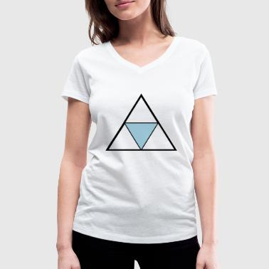 Hipster Triangle - Women's Organic V-Neck T-Shirt by Stanley & Stella