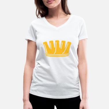 Drunk Crown Beer Crown T-Shirts - Women's Organic V-Neck T-Shirt by Stanley & Stella