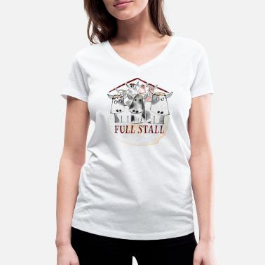 Stall Full Stall - Women's Organic V-Neck T-Shirt