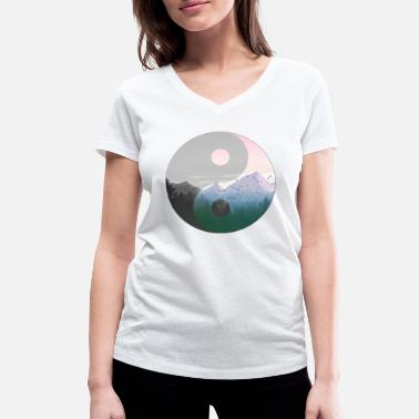 Ying Ying Yang nature + montagne - T-shirt bio col V Stanley & Stella Femme