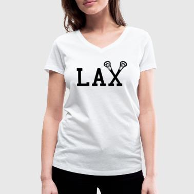College Style LAX Lacrosse College Style - Women's Organic V-Neck T-Shirt by Stanley & Stella