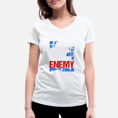Angry Mistress My best friend - your worst enemy - Women's Organic V-Neck T-Shirt by Stanley & Stella