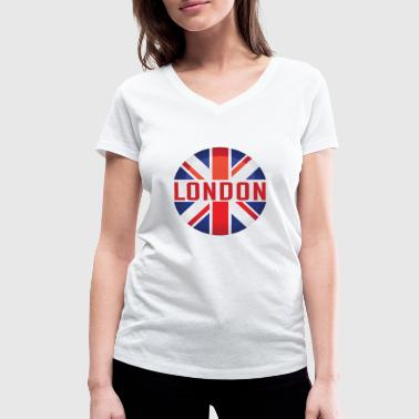 Trendy City London design. Modern and trendy - Women's Organic V-Neck T-Shirt by Stanley & Stella