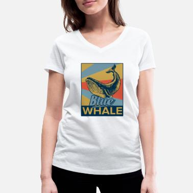 Blue Whale blue whale - Women's Organic V-Neck T-Shirt by Stanley & Stella
