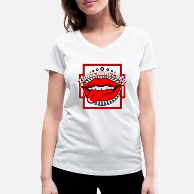 Mouth Tongue Tongue twister mouth tongue - Women's Organic V-Neck T-Shirt by Stanley & Stella