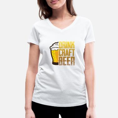 Officialbrands Drink Craft Beer - Women's Organic V-Neck T-Shirt by Stanley & Stella