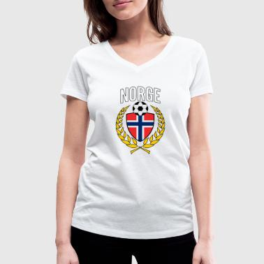 Norway / Norge soccer jersey 2018 Laurel Norsk - Women's Organic V-Neck T-Shirt by Stanley & Stella