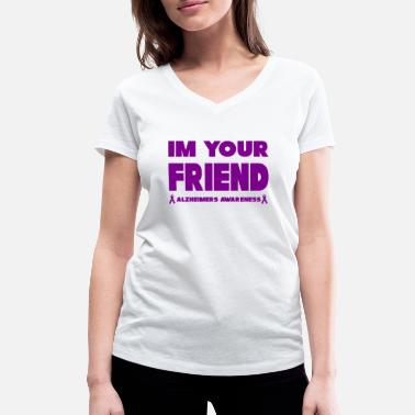 Aids Awareness Funny Alzheimers Awareness Im votre ami! - T-shirt bio col V Stanley & Stella Femme