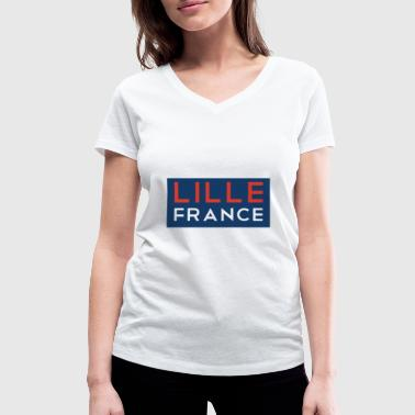 Lille Lille France T-Shirt France Shirt - Women's Organic V-Neck T-Shirt by Stanley & Stella