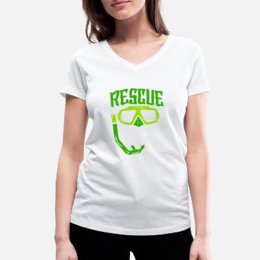 Rescue Diver Rescue Diver - Women's Organic V-Neck T-Shirt by Stanley & Stella