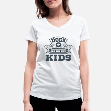 Loyal Kids Dogs and Kids - Women's Organic V-Neck T-Shirt by Stanley & Stella
