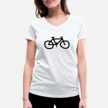Single Speed Bike fixie single speed - T-shirt ecologica da donna con scollo a V di Stanley & Stella