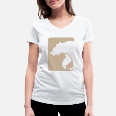 Chicago Bears bear - Women's Organic V-Neck T-Shirt by Stanley & Stella