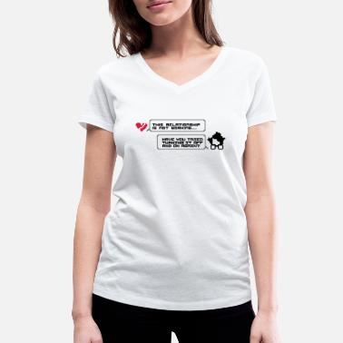 It Crowd Turning it off and on relationship - Camiseta ecológica mujer con cuello de pico de Stanley & Stella