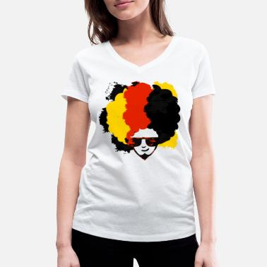 Schland Germany flag banner banner colors - Women's Organic V-Neck T-Shirt