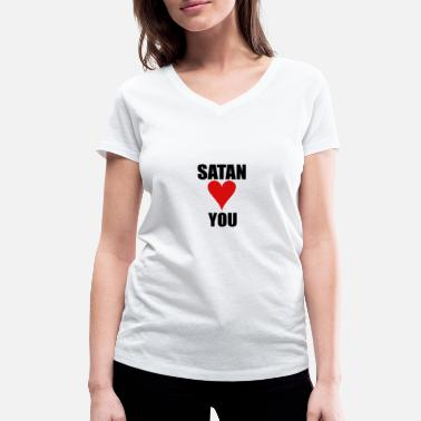 Satan Love Satan loves you - Women's Organic V-Neck T-Shirt by Stanley & Stella