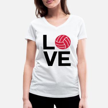 Love Volleyball love volleyball - Women's Organic V-Neck T-Shirt by Stanley & Stella