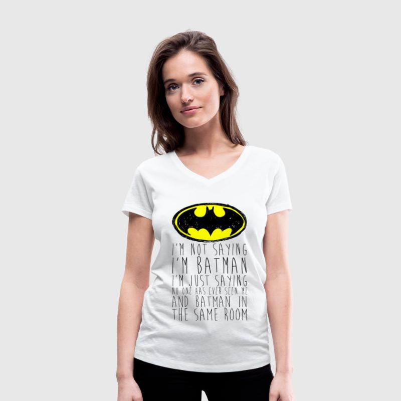 Batman I'm not saying black Teenager T-Shirt - Økologisk Stanley & Stella T-shirt med V-udskæring til damer