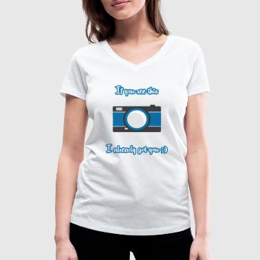 Typical Typical photographer - Women's Organic V-Neck T-Shirt by Stanley & Stella