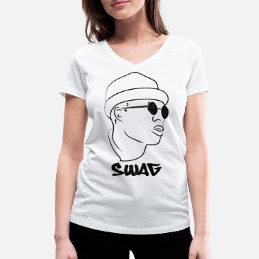 Style Swag Hipster Style Swag Graffiti - T-shirt bio col V Stanley & Stella Femme