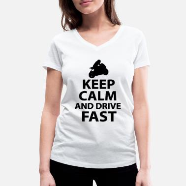 Keep Calm And Fuck Me Keep Calm And Drive Fast - Vrouwen bio T-shirt met V-hals van Stanley & Stella