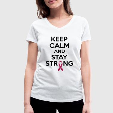 Breast Cancer Awareness Keep calm and stay strong - Frauen Bio-T-Shirt mit V-Ausschnitt von Stanley & Stella