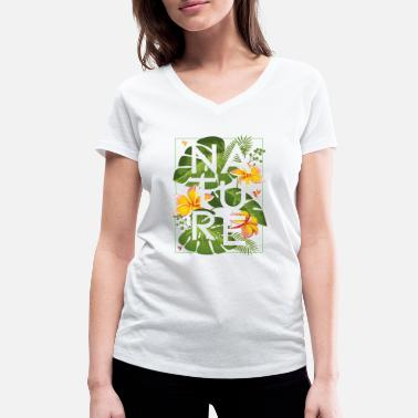 Nature Collection JUNGLE 1 - Camiseta ecológica mujer con cuello de pico de Stanley & Stella