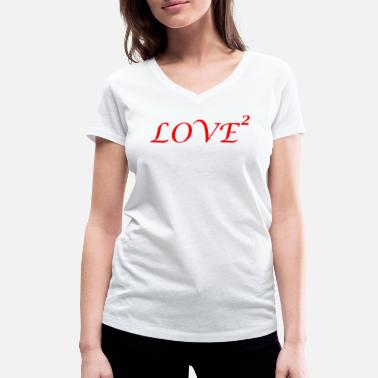 Loved LOVE love Loved love romantic i love - Women's Organic V-Neck T-Shirt by Stanley & Stella