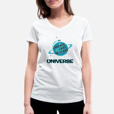 Above And Beyond Above and Beyond - UNIVERSE - Women's Organic V-Neck T-Shirt by Stanley & Stella