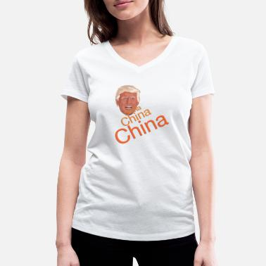 China Donald Trump - China China China - Women's Organic V-Neck T-Shirt