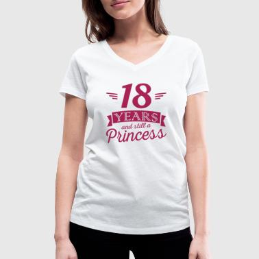 18 years and still a princess - T-shirt ecologica da donna con scollo a V di Stanley & Stella