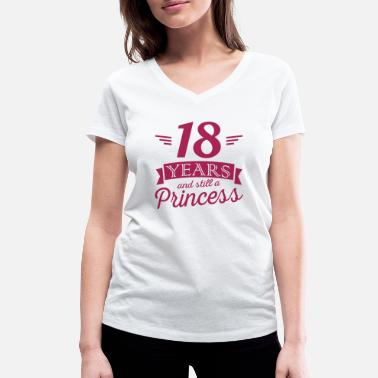 18 Anni 18 years and still a princess - T-shirt ecologica da donna con scollo a V di Stanley & Stella
