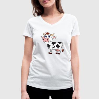Cow milk cow - Women's Organic V-Neck T-Shirt by Stanley & Stella