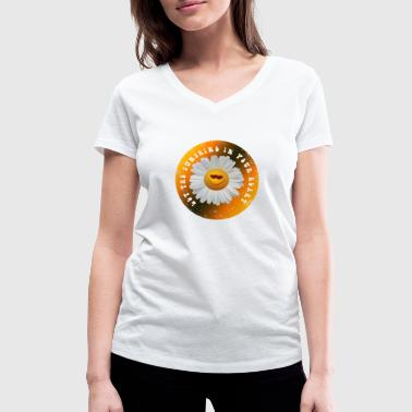 Let the sunshine in your heart - Frauen Bio-T-Shirt mit V-Ausschnitt von Stanley & Stella