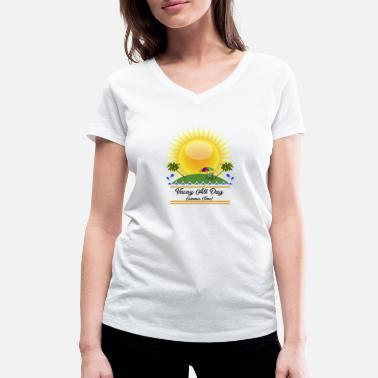 Summer Vacation summer vacation vacations - Women's Organic V-Neck T-Shirt by Stanley & Stella
