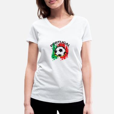 Portugal Funny FOOTBALL SOCCER WC PORTUGAL - Women's Organic V-Neck T-Shirt by Stanley & Stella