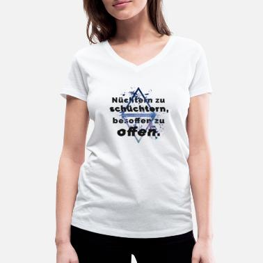 Super Shy Sober too shy, drunk to open. - Women's Organic V-Neck T-Shirt by Stanley & Stella