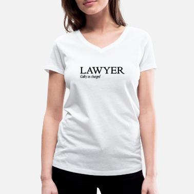 Guilty Funny Lawyer Shirt Guilty As Charged - Camiseta ecológica mujer con cuello de pico de Stanley & Stella