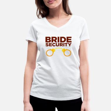 Bride Security Team Bride Security Team of the Bride - Women's Organic V-Neck T-Shirt by Stanley & Stella