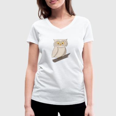 Night Owls Night owl owl night owls nature gift - Women's Organic V-Neck T-Shirt by Stanley & Stella