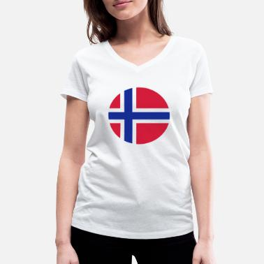 Norway Reindeer Norway - Women's Organic V-Neck T-Shirt by Stanley & Stella