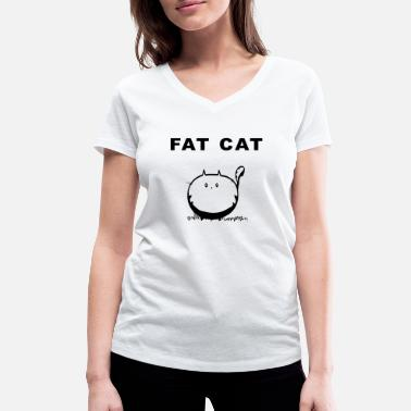 Gros Chat Idée cadeau gros chat gros chat - T-shirt bio col V Stanley & Stella Femme