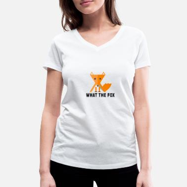 Officialbrands what the fox - fuchs - flat design - Women's Organic V-Neck T-Shirt by Stanley & Stella