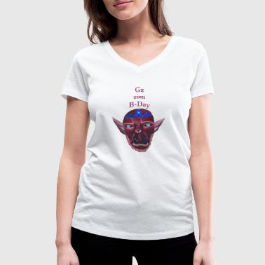 Orc B Day - Women's Organic V-Neck T-Shirt by Stanley & Stella