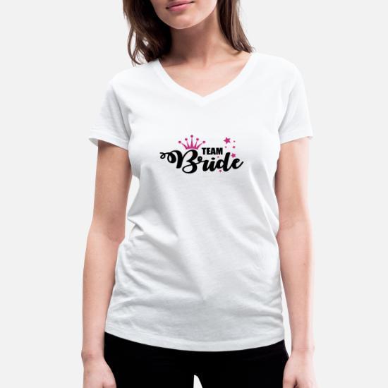 0320c0a9 Women's Organic V-Neck T-ShirtTeam Bride, Hen Party, Bachelorette Parties,  Posse