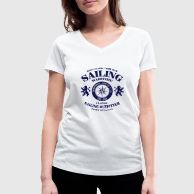 Maritime Sailing - Women's Organic V-Neck T-Shirt by Stanley & Stella