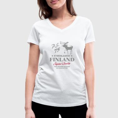 Finland - Land of Moose - Women's Organic V-Neck T-Shirt by Stanley & Stella