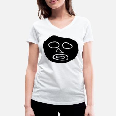 Big Head Big head - Women's Organic V-Neck T-Shirt by Stanley & Stella