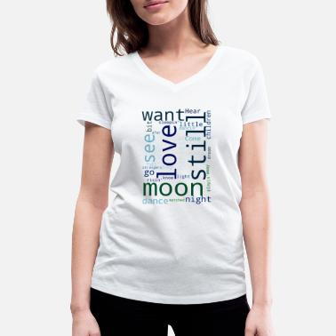 Young Harvest Moon - Women's Organic V-Neck T-Shirt